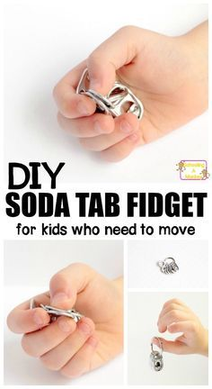 This DIY fidget toy uses soda tabs to make the easiest fidget toys for kids ever! Kids with ADHD will love these DIY fidgets they can take to school!