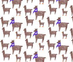 llama fabric by ericaneely on Spoonflower - custom fabric
