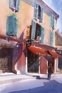 Arles, France I by Keiko Tanabe Watercolor ~ 21 x 14.25 inches (54.5 x 36 cm)