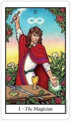 July 1 Tarot Card: The Magician (Connolly deck) You have everything you need now to succeed. Lean on your greatest strengths, and have confidence in your abilities The Magicians, Medieval Stained Glass, Tarot Significado, The Magician Tarot, Rider Waite Tarot, Tarot Major Arcana, Tarot Card Meanings, Oracle Cards, Tarot Decks