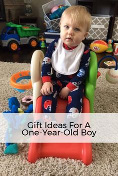 My nephew received the Little Tikes cozy coupe, Step 2 sports center, Step 2 playhouse, board books, personalized name puzzle and more. Click to read all the boy toys he got for his 1st birthday!