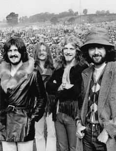 Led Zeppelin photographed at Bath Festival in 1970
