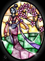 Stained Glass Mulan by CallieClara