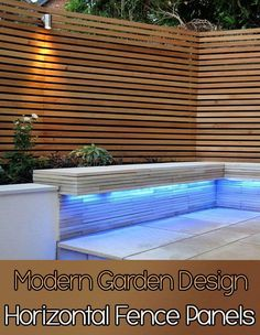Horizontal fence panels modern garden design ideas back fencing pictures . wooden fence design ideas and yard landscaping Diy Garden Fence, Patio Fence, Cedar Fence, Backyard Fences, Backyard Landscaping, Pallet Fence, Front Fence, Garden Ideas, Fence Stain