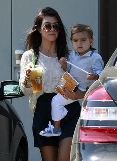 Kourtney Kardashian & Mason Disick.