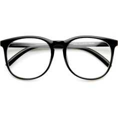 Vintage Inspired Horned Rim Dapper Clear Lens Glasses 9426 (48 BRL) ❤ liked on Polyvore featuring accessories, eyewear, eyeglasses, oversized clear glasses, clear lens glasses, keyhole glasses, oversized glasses and horn eyeglasses