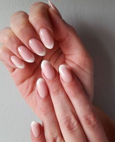 Almond nails french ombre lovely natural french tip acrylic nails oval shaped hair styles French Tip Acrylic Nails, Acrylic Nail Designs, Nail Art Designs, Gel Designs, Nails Design, Prom Nails, Fun Nails, Pretty Nails, Wedding Nails
