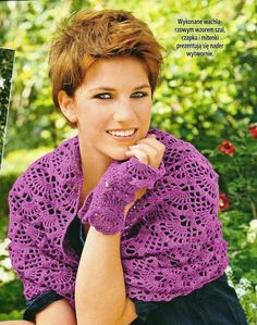 Crochet Heklanje: Heklani šal, kapa i rukavice - Šema za heklanje 216 Crochet Patterns For Beginners, Easy Crochet Patterns, Free Crochet, Fingerless Gloves, Arm Warmers, Scarves, Stitch, Handmade, Fashion