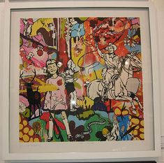 Framed The Dream (Giclee and Silkscreen with gold leaf Signed Limited Edition of 25) by Dan Baldwin
