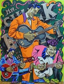 Chuck Berry by Red Grooms