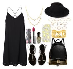"""""""Untitled#1216"""" by mihai-theodora ❤ liked on Polyvore featuring Vero Moda, Givenchy, Lana, Deborah Lippmann, MICHAEL Michael Kors, Topshop, Chanel and Forever 21"""