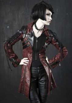 #Visual kei #Red and Black #Leather #Jacket
