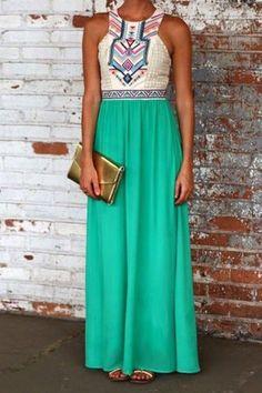 Stylish Round Neck Sleeveless Printed Spliced Women's Dress