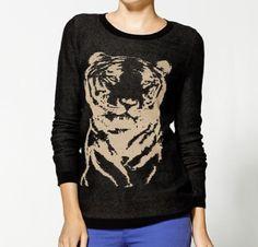 Hive & Honey Animal Intarsia Crew Sweater