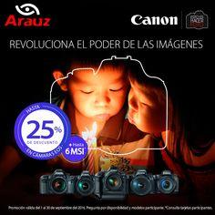 Aprovecha esta promoción, valida hasta el 30 de Septiembre. #canon #arauzdigital #camarasfotograficas