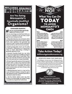 Leaflet: GMO NO! What You Can Do Today to Avoid Monsanto�s GMOs [pdf file] #monsanto #gmo #geneticallymodified