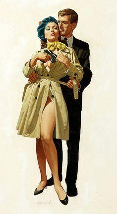 Stanley Borack Vintage Pulp Art Illustration | Female-Centric Pulp Art | Sugary.Sweet | #Pulp #Art #Illustration