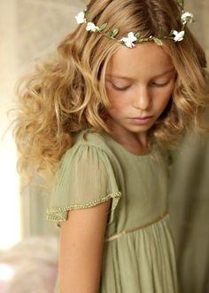 Silk chiffon Emma dress Sage