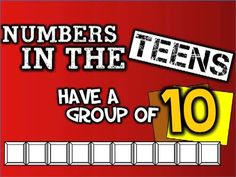 Numbers in the Teens (Have a group of TEN!) (Place-value song for kids) by Harry Kindergarten. This new version emphasizes place value from numbers For more Mr. Harry Kindergarten, Preschool Math, Math Classroom, Fun Math, Teaching Math, Maths, Teaching Ideas, Teen Numbers, Math Numbers