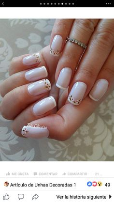 Unhas para Fernanda Fabulous Nails, Perfect Nails, Pale Nails, Daisy Nails, Flower Nail Art, Stylish Nails, French Nails, Manicure And Pedicure, Pretty Nails