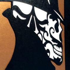 Cut Paper Sugar Skull Day of the Dead Artwork 8x10 by MinksPaperie