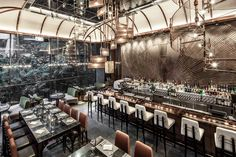 The restaurant AMMO, at the Asia Society in Hong Kong, serves Mediterranean cuisine with an Asian influence.