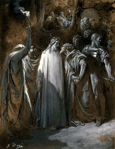 Treachery in the night as Christ is seized. Gustave Dore, Christ taken Prisoner, French, 1800's