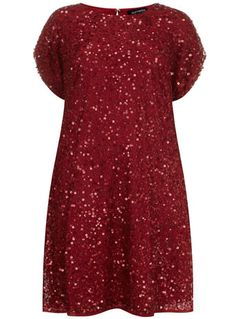 Sorrento Red Sparkle Dress - New In - Evans - This is just soooooo cute!
