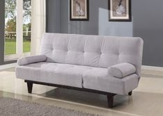 Acme 05855WSI Cybil Adjustable Sofa Set with Two Pillows Silver ** Visit the image link more details. Note:It is affiliate link to Amazon. #StunningLivingRoom