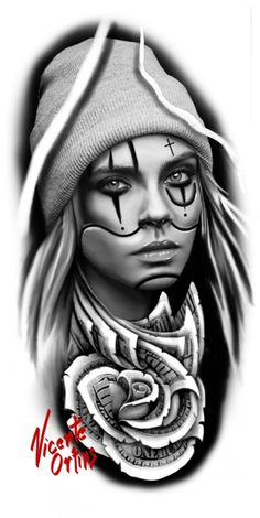 Tattoos Discover 15 Stylish Playing Card Tattoos for Women and Men Chicano Tattoos Art Chicano Chicano Drawings Gangster Tattoos Kunst Tattoos Body Art Tattoos Girl Tattoos Skull Girl Tattoo Clown Tattoo Tattoo Girls, Skull Girl Tattoo, Girl Face Tattoo, Clown Tattoo, Girl Tattoos, Diy Tattoo, Tattoo Art, Tattoo Sleeve Designs, Sleeve Tattoos