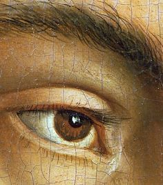 detail of the eye Jan van Eyck