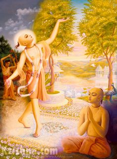 "Chaitanya Mahaprabhu says that, ""I have descended with the sole purpose of taking you back to Godhead. So please accept this medicine of the Hare Krishna mahamantra, which I am distributing to one and all."" So, at least for Lord Chaitanya's sake, Who has very benevolently appeared to take us back, we should at once start chanting the Hare Krishna mahamantra."