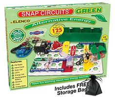 Snap Circuits Green - Alternative Energy with FREE Storage Bag Snap Circuits Green http://www.amazon.com/dp/B00Q376FSA/ref=cm_sw_r_pi_dp_JoBGub14NZNAH