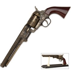 Black Powder Outlaw Revolver Replica with Stand | BUDK.com - Knives & Swords At The Lowest Prices!