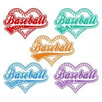 Baseball Heart Family SVG Cuttable Designs