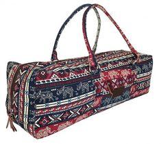 588910a0f39c Kindfolk Yoga Mat Duffel Bag Carrier Patterned Canvas with Pocket and Zipper  Yoga Mat Bag
