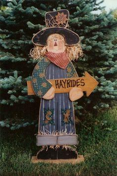 Hayrides! Fall Wood Crafts, Thanksgiving Crafts, Wooden Crafts, Holiday Crafts, Fall Halloween, Halloween Crafts, Halloween Decorations, Tole Painting Patterns, Wood Patterns