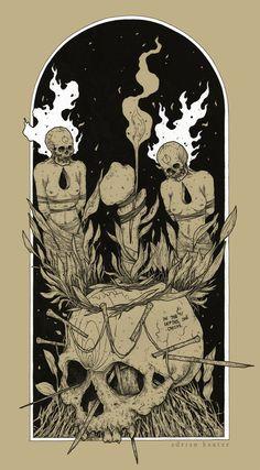 Fine occult art forged by Adrian Baxter. Our art-agent: parallelreflex. Tarot, Art Sketches, Art Drawings, Beautiful Dark Art, Satanic Art, Occult Art, Arte Horror, Creepy Art, Metal Artwork