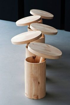 How great are these stools! #Furniture #Wood #Stool