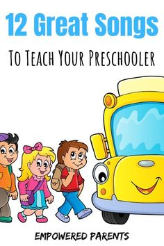 12 Great Songs You Should Teach Your Preschool Child Teach your kids these fun, all-time favourite action rhymes, finger plays and number songs and build their auditory perception and motor skills. Preschool Action Songs, Preschool Music, Preschool Learning Activities, Toddler Preschool, Preschool Activities, Kids Learning, Number Songs Preschool, Toddler Play, Preschool Worksheets