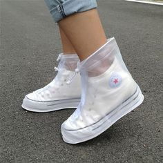 Cheap waterproof overshoes, Buy Quality shoes accessories directly from China shoe covers Suppliers: Thickening Reusable Waterproof Overshoes Shoe Covers Shoe Protector Anti-slip Rain Boot Men&Women's&Children Shoes Accessories Cute Shoes, Me Too Shoes, Poncho Raincoat, Rain Poncho, Basket Style, Rain Shoes, Sneaker Outfits, Waterproof Shoes, Mode Outfits