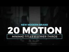 Motion Titles & Lower Thirds 1 (Top After Effects Templates)