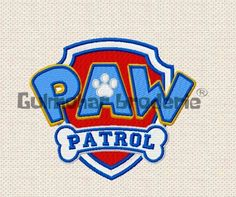 Paw Patrol Logo Embroidery designs Multiformat Pes, Hus, Jef, Dst, Exp Machine embroidery 4 Sizes Product Code : PatrolLogo