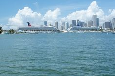 Cruise ship view Miami Beach!  We see this everyday living and working here!  ... Don't hate!!