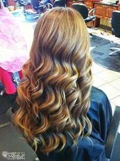 Thick hair curls.
