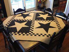 Checkerboard Stars Quilt Kit by myreddoordesigns on Etsy, $80.00