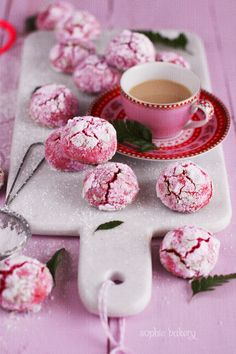 Cookies de frambuesa y chocolate blanco - Raspberry & White Chocolate Crinkle Cookies