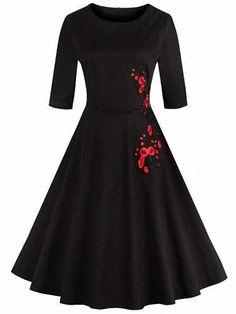 Prezzi e Sconti: #Retro style high waist floral embroidery  ad Euro 22.61 in #Women #Moda