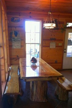 Hand Crafted Rustic dinning room table