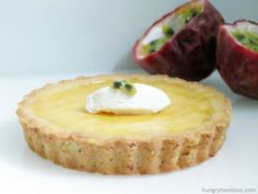 passion fruit cream tart